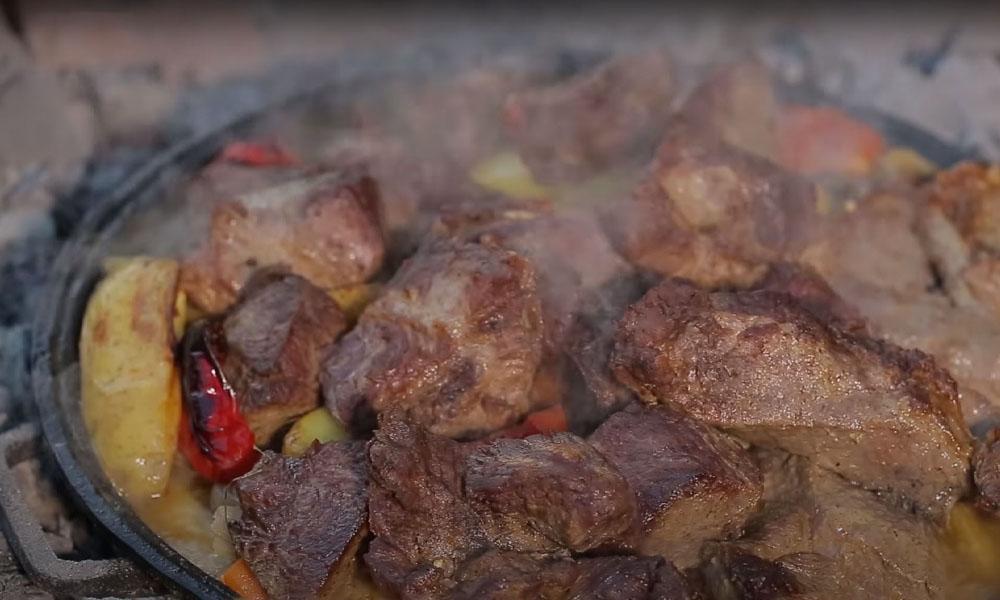 Рецепт телятины под пекой
